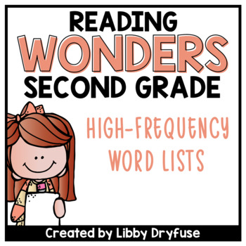 Second Grade Wonders High-Frequency Word List