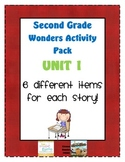 Second Grade Wonders Reading Unit 1: 6 Different Items for