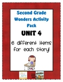 Second Grade Wonders Reading Unit 4: 6 Different Items for Each Story