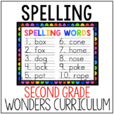 Second Grade Wonders Spelling List