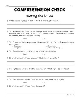 Second Grade Wonders U5W5 Setting the Rules