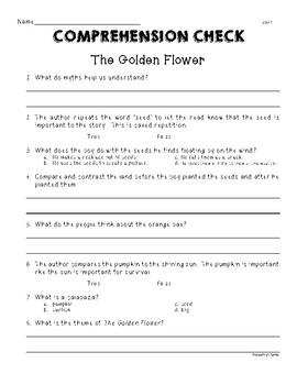 Second Grade Wonders U6W1 The Golden Flower