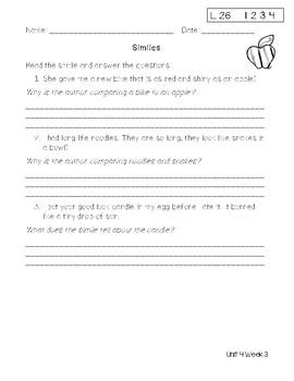 Second Grade Wonders Unit 4 Week 3 Assesment