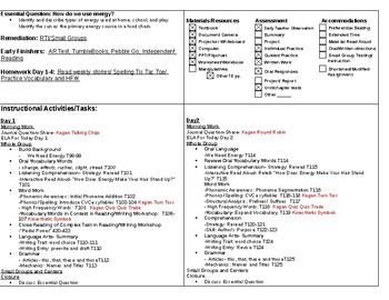 Second Grade Wonders Unit 6 Week 2 Lesson Plan