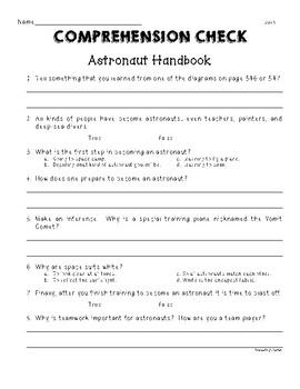 "Second Grade Wonders Unit 6 Week 3 ""Astronaut Handbook"""