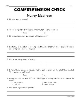 "Second Grade Wonders Unit 6 Week 4 ""Money Madness"""