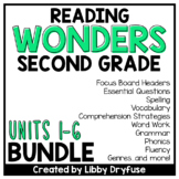 Second Grade Wonders Units 1-6 BUNDLE
