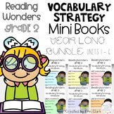 Second Grade Wonders Vocabulary Strategy Mini Book {UNITS 1 - 6 GROWING BUNDLE}