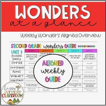 Second Grade Wonders Weekly Glance