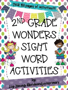 Second Grade Wonders Weekly Sight Word Activities