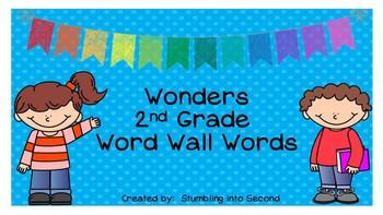 Second Grade Wonders Word Wall Card Set