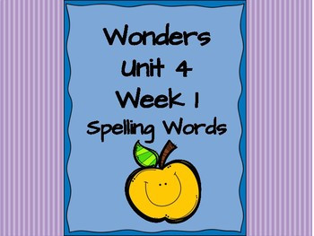 Second Grade Wonders complete set Unit 4 spelling words