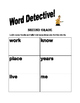 Sight Words Second Grade Word Detective!