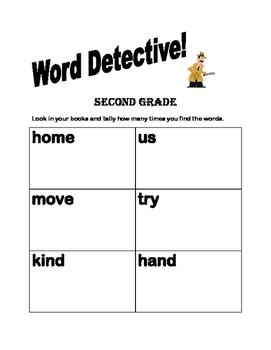 Sight Words, Vowels, Blends, Rhyming Words - Second Grade Word Detective BUNDLE
