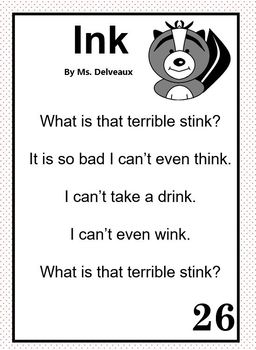 Word Family Poems - Second Grade Edition