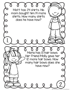 Second Grade Word Problems