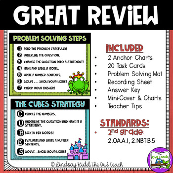 Second Grade Word Problems:  Fairy Tale Set