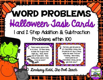 Second Grade Word Problems:  Halloween Set
