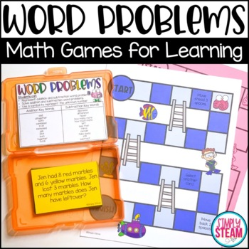 Second Grade Word Problems Math Game