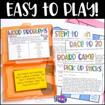 Second Grade Word Problems Addition and Subtraction Game | Distance Learning