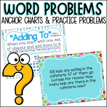 Second Grade Word Problems/Story Problems & Anchor Charts