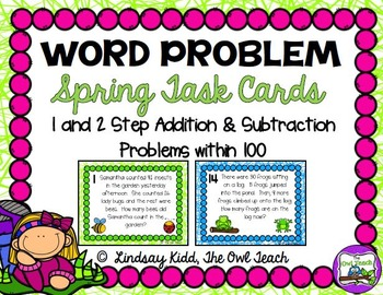 Second Grade Word Problems: Task Card BUNDLE