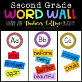 Second Grade Word Wall- Aligned with TEACHER'S COLLEGE Phonics Program