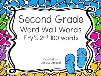 Second Grade Word Wall - Fry's 2nd 100 words