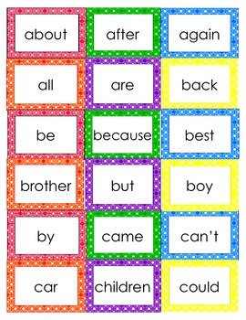 Second Grade Word Wall in Plaid Dots