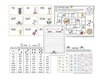 Second Grade Word Work Bundle #1