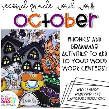 October Second Grade Literacy Centers