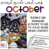 October Second Grade Literacy Centers