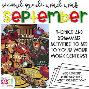 September Second Grade Literacy Centers