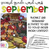 September Second Grade Literacy Centers