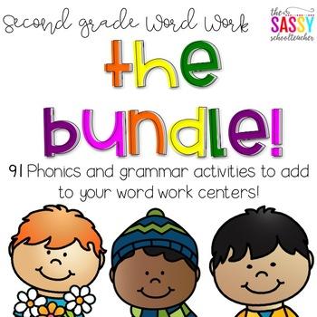 Second Grade Word Work-The Bundle!