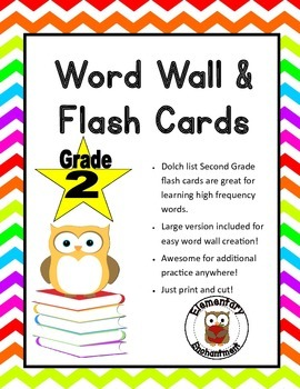 Second Grade Words Flash Cards & Word Wall Cards