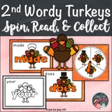 Second Grade Wordy Turkeys Sight Word Game