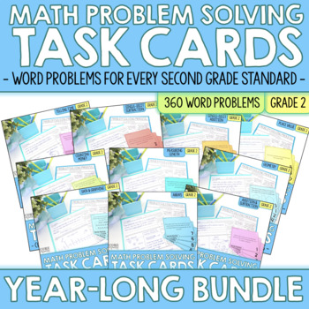 Second Grade Write To Explain Math Task Cards YEAR LONG BUNDLE