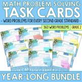 2nd Grade Math Word Problem Task Cards BUNDLE   Printable & Digital