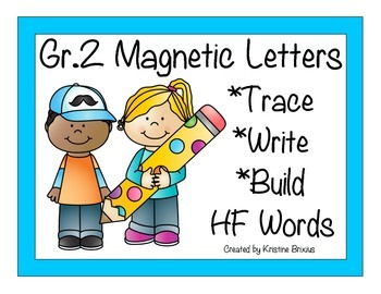 Second Grade Write and Build Words with Magnetic Letters Kid Theme