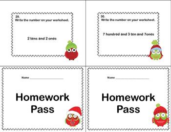 Place Value to the Hundreds-Second Grade-Write the Room-Christmas Owls