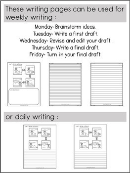 Second Grade Writing Activities (GROWING BUNDLE)