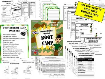 Second Grade Writing BOOT CAMP {Common Core W.2.1 W.2.2 W.2.3}