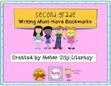 Second Grade Writing Bookmark