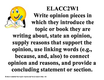 Second Grade Writing CCGPS Standards