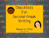 Second Grade Writing Checklist for Grading
