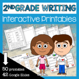 Second Grade Writing Interactive Cut and Paste Printables Distance Learning