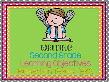 Second Grade Writing Learning Objectives