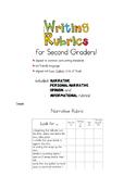 Second Grade Writing Rubrics!