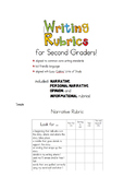 Second Grade Writing Rubrics!